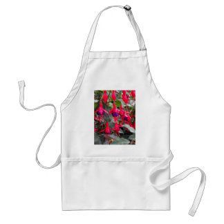 Fuchsia flowers standard apron