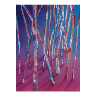 Fuchsia Forest Abstract Fine Art Poster/Print Poster