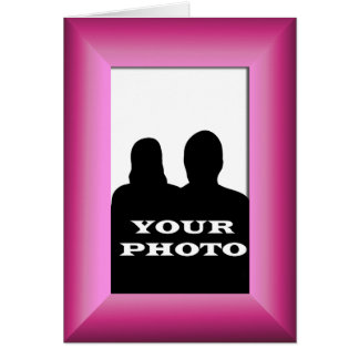 Fuchsia Frame Your Photo 5x7 Vertical Greeting 2 Card