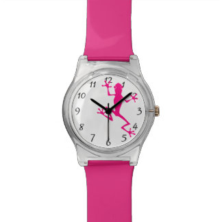 Fuchsia frog watch