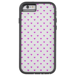 Fuchsia Glitter Hearts Pattern Tough Xtreme iPhone 6 Case