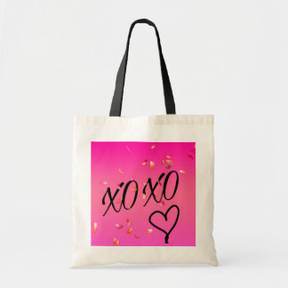 Fuchsia Hugs & Kisses Tote