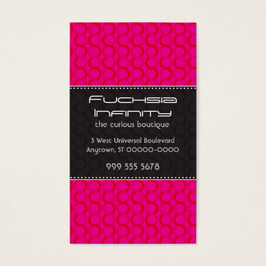 Fuchsia Infinity Business Card