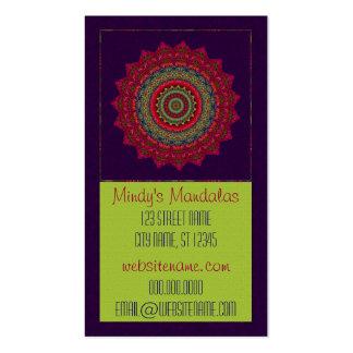 Fuchsia Kaleidoscope Mandala Double-Sided Standard Business Cards (Pack Of 100)