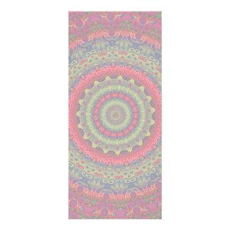 Fuchsia Kaleidoscope Mandala Rack Card Template