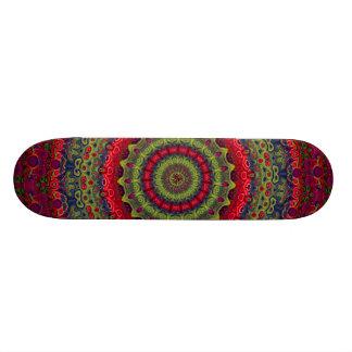 Fuchsia Kaleidoscope Mandala Skate Boards