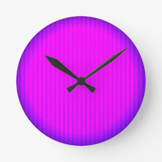 Fuchsia LED lamp Round Clock