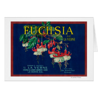 Fuchsia Lemon LabelLa Verne, CA Greeting Card
