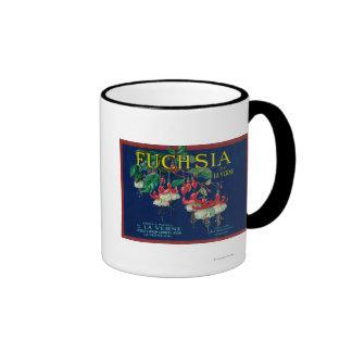 Fuchsia Lemon LabelLa Verne, CA Ringer Mug
