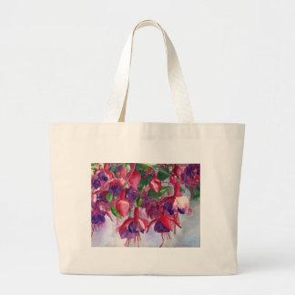 Fuchsia Lore Large Tote Bag
