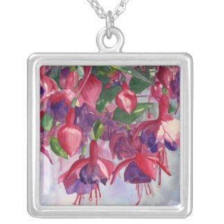 Fuchsia Lore Silver Plated Necklace