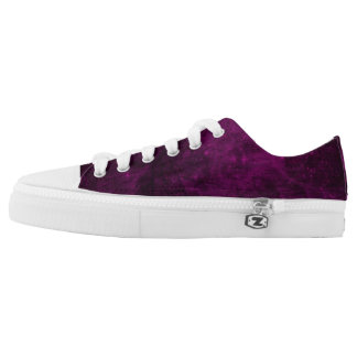 Fuchsia Low Tops Printed Shoes