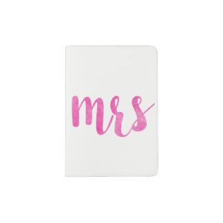 Fuchsia Mrs. passport holder