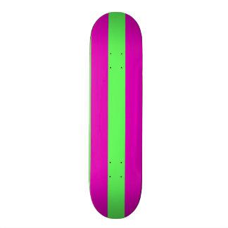 Fuchsia-n-Lime Skateboard Deck