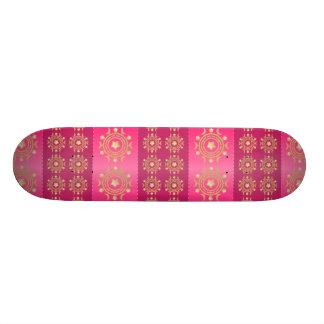 Fuchsia Oriental Mandala Pattern Skateboard Deck