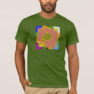 Fuchsia Over Blue Sunflower Series T-Shirt