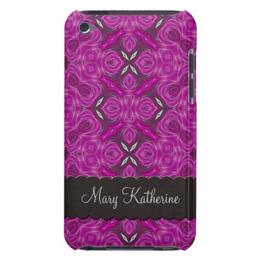 Fuchsia Pattern Personalized iPod Touch Cases