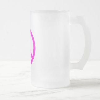 Fuchsia Peace Sign Coffee Mugs