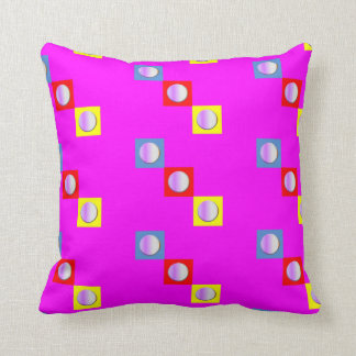 Fuchsia Pillow (Tricolored Shapes)