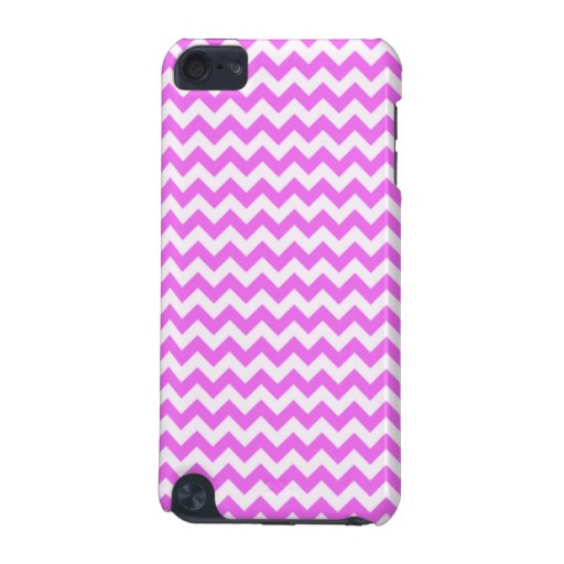 Fuchsia Pink Chevron Stripes iPod Touch (5th Generation) Case
