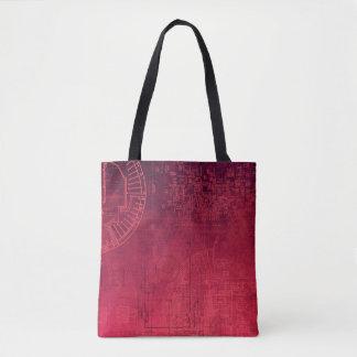 Fuchsia Pink Circuit Board computer geek nerd Tote Bag