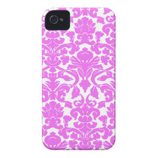 Fuchsia Pink Damask Case-Mate iPhone 4 Cases