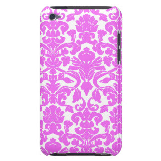 Fuchsia Pink Damask Barely There iPod Cover