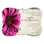 Fuchsia Pink Gerber Daisy Wedding Invite 13 Cm X 18 Cm Invitation Card