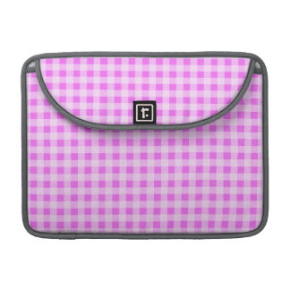Fuchsia Pink Gingham; Checkered MacBook Pro Sleeves