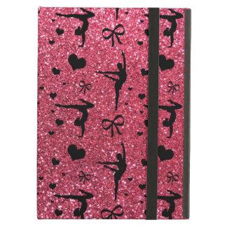 Fuchsia pink gymnastics glitter pattern case for iPad air