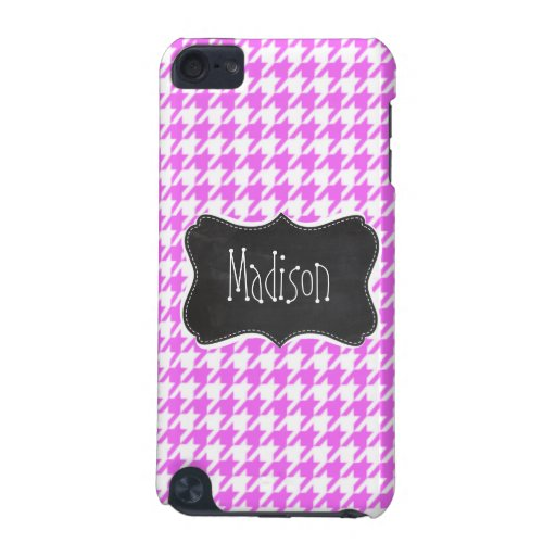 Fuchsia Pink Houndstooth iPod Touch (5th Generation) Covers