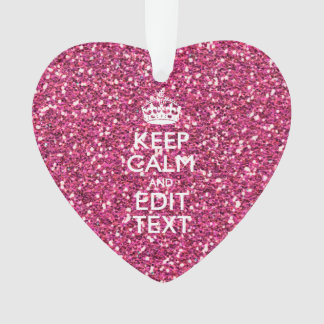 Fuchsia Pink Keep Calm Have Your Text