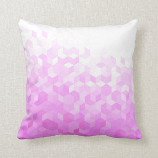 Fuchsia Pink Modern Girly Cube Gradient Cushion