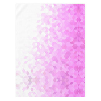 Fuchsia Pink Modern Girly Cube Gradient Tablecloth