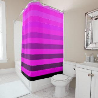 Fuchsia pink modern stripes shower curtain