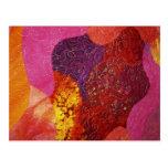 Fuchsia Pink Orange and Purple Quilt Postcards