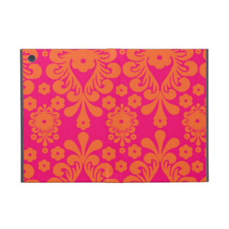 Fuchsia Pink Orange Vintage Damask Pattern Case For iPad Mini