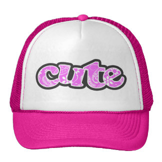 Fuchsia Pink Paisley; Floral Trucker Hats