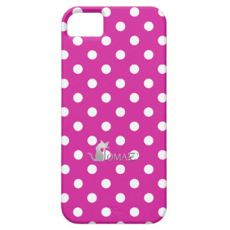 Fuchsia Pink Polka Dots Case For The iPhone 5