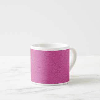 Fuchsia Pink Stucco Look Espresso Mug