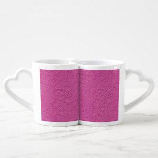 Fuchsia Pink Stucco Look Lovers Mug