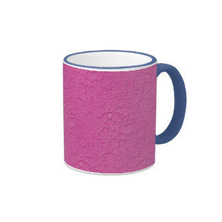 Fuchsia Pink Stucco Look Ringer Mug