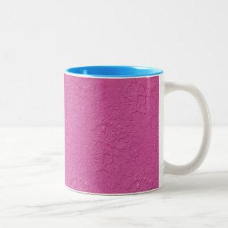 Fuchsia Pink Stucco Look Two-Tone Mug