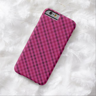 Fuchsia Plaid - Custom iPhone 6 Case Barely There iPhone 6 Case