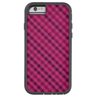 Fuchsia Plaid - Custom iPhone 6 Tough Case Tough Xtreme iPhone 6 Case