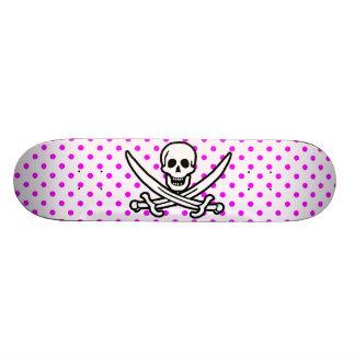 Fuchsia Polka Dots Jolly Roger Skateboards