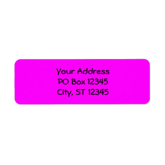 Fuchsia Return Address Label