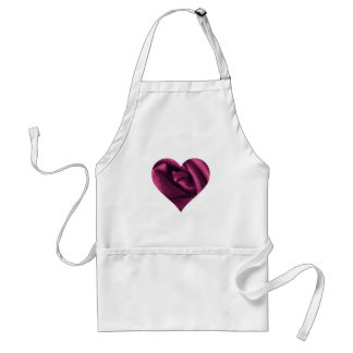 Fuchsia Rose Heart Standard Apron