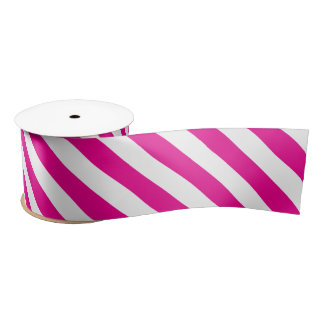 Fuchsia Stripes Satin Ribbon