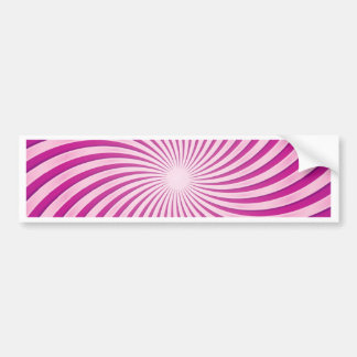 Fuchsia Swirl Bumper Sticker
